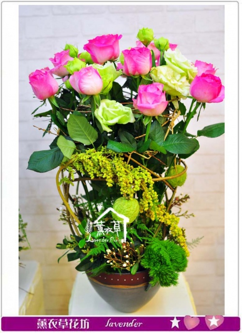 歐式盆花設計B032310