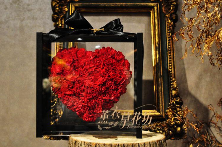 母親節~康乃馨~漂浮愛心花盒設計 109042807
