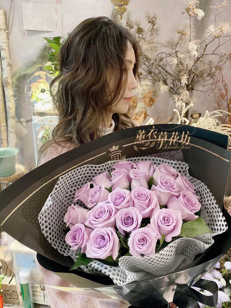 荷蘭進口紫色玫瑰花束108060406