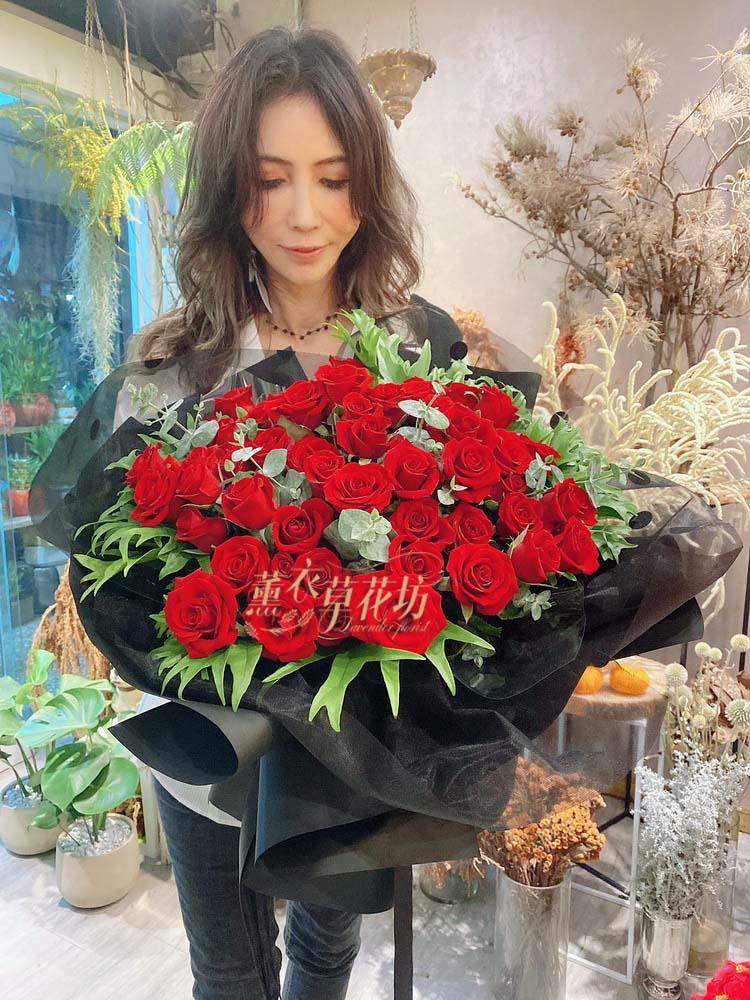 玫瑰60朵花束 108082809