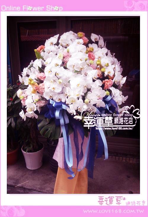 B133蘭花柱型花藍一對