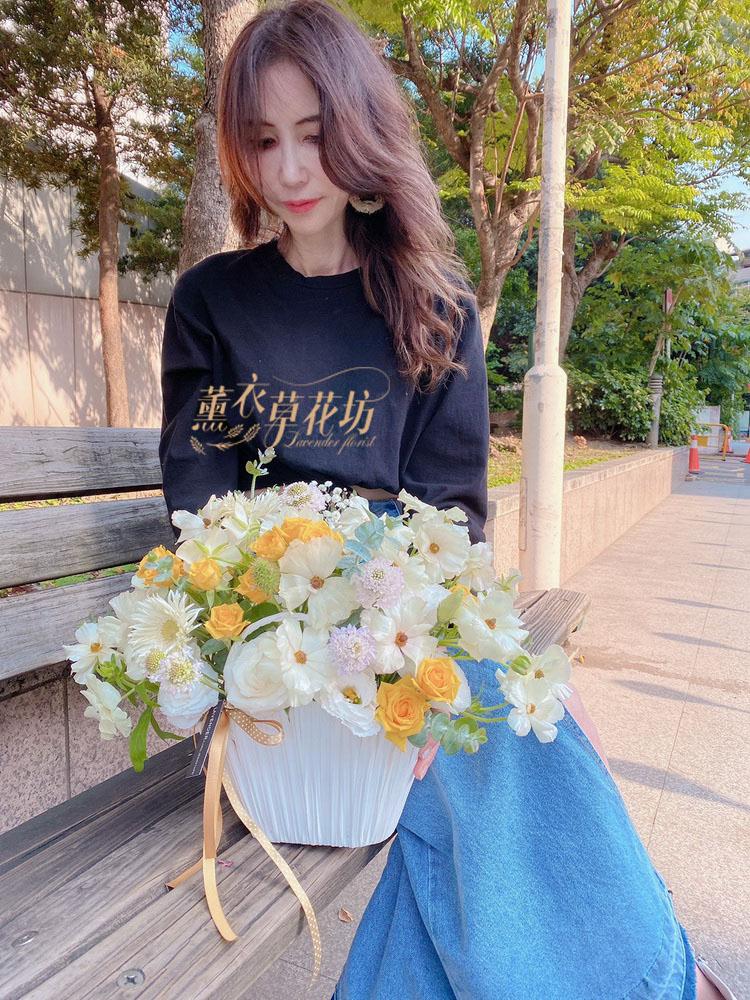 蝴蝶陸蓮盆花設計 109041602