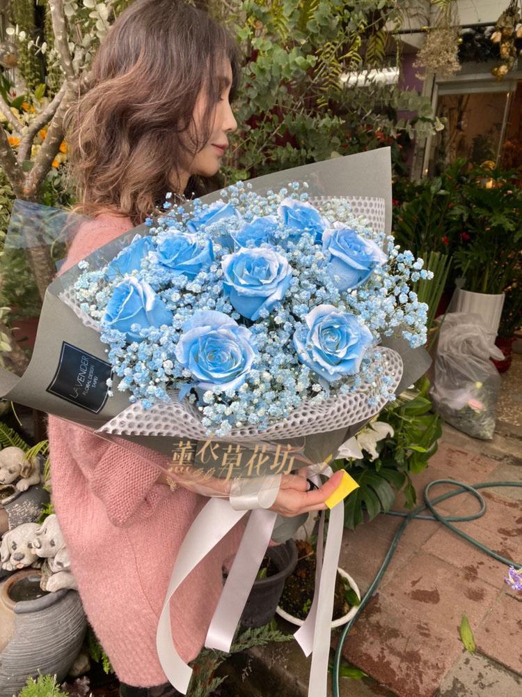 荷蘭玫瑰-水藍色玫瑰 107081622