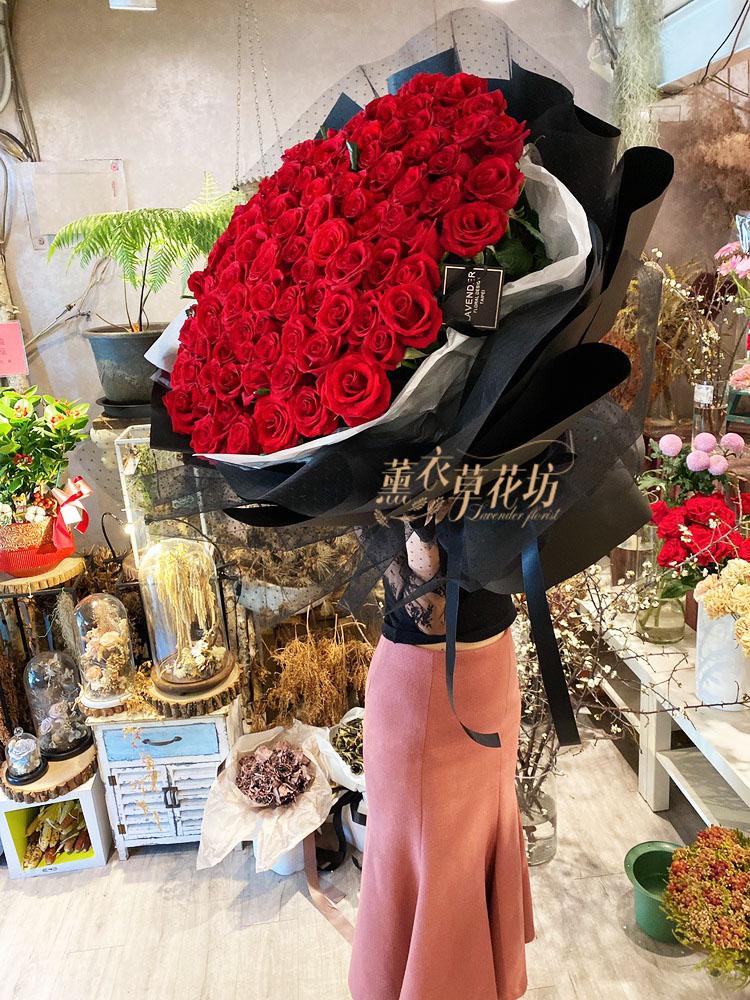 荷蘭進口~紅玫瑰花束108122902