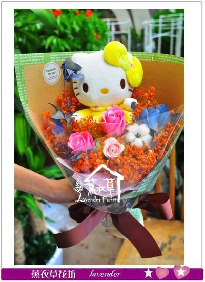 凱蒂貓&乾燥花束設計107060908