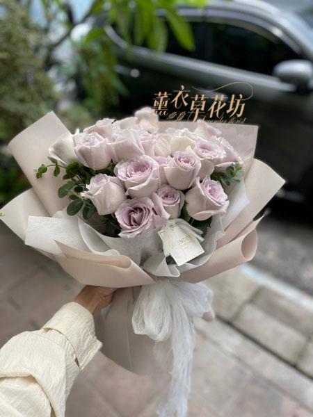 進口紫玫瑰花束 110062602