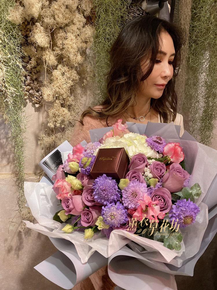 荷蘭進口~紫色玫瑰109012116