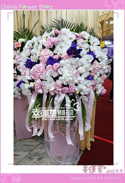 蘭花柱型花藍一對B0220