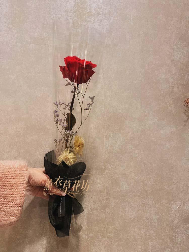 不凋花~玫瑰花盒-一支108120501