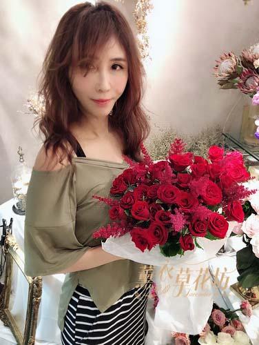紅玫瑰花束107101719