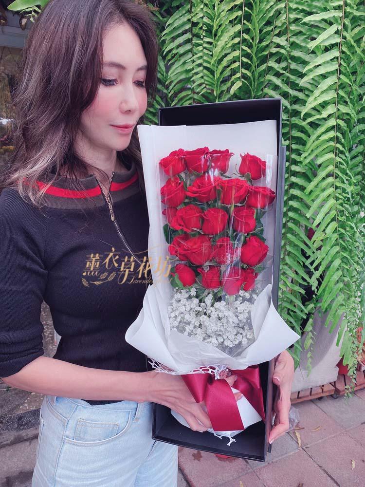 歐式玫瑰花盒a071305