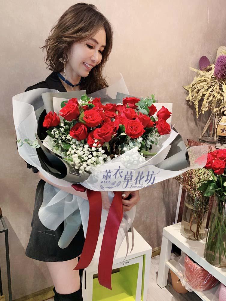 紅玫瑰花束33朵 108032002