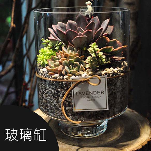 玻璃缸花藝 送禮 擺設