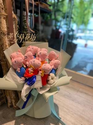佩佩豬玩偶設計~限量2束110081841