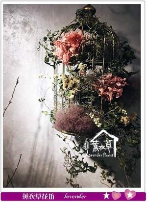 復古鐵藝鳥籠座~不凋花設計 107073011