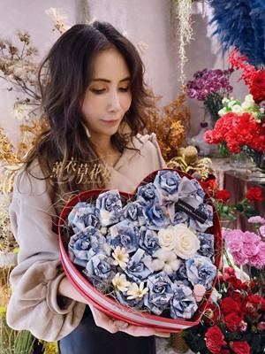 愛心鈔票花盒設計 109030227