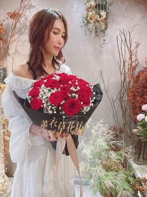 荷蘭進口玫瑰花束20朵 110071709