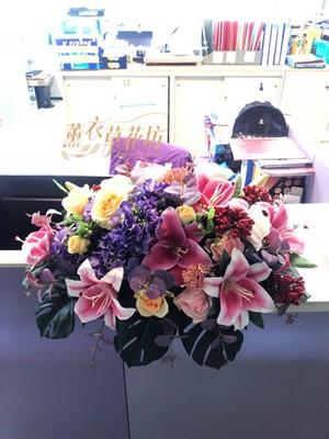 緞帶花~人造花 盆花設計 10032001