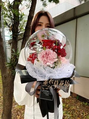 缺貨-波波球鮮花花束110041916