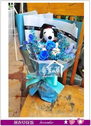 玩偶&乾燥花花束107060911