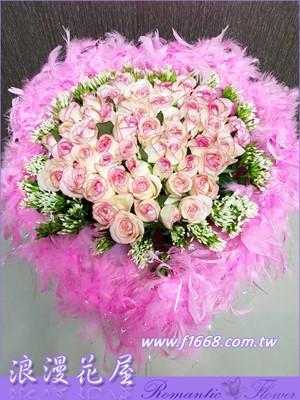 粉紅玫瑰花束A226