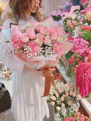 玫瑰&桔梗花束設計記108042007