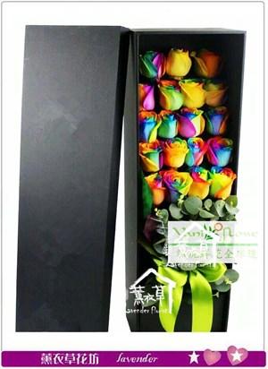 七彩玫瑰花盒設計~情人節特賣b080401