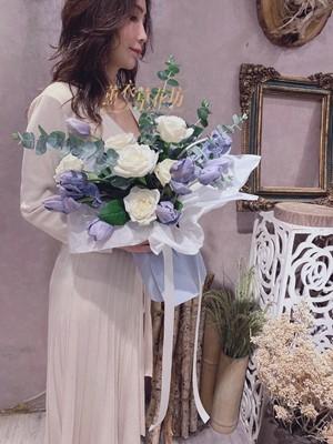 鬱金香&玫瑰花束設計 109042805
