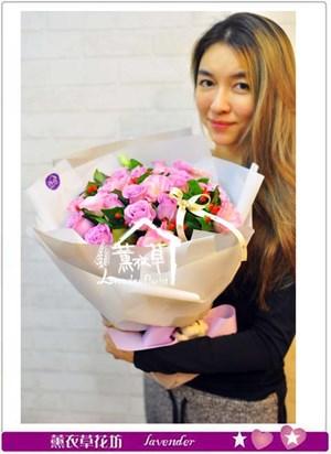 紫玫瑰花束B121503