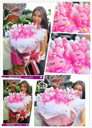 兔兔花束b080617