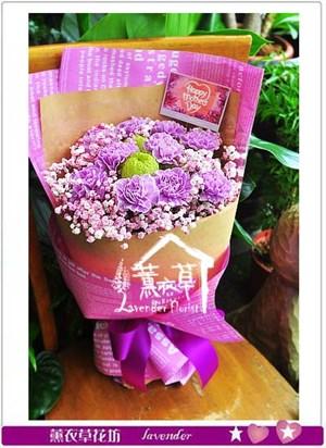 進口紫色康乃馨106050905