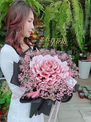 巨大鈔票玫瑰花束 110070525