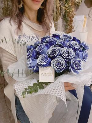 進口~藍雪玫瑰花束109122205
