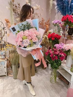 玫瑰花束設計~韓式 107112015