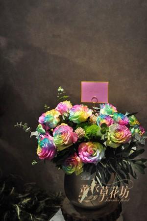 進口7彩玫瑰~盆花設計 110041812