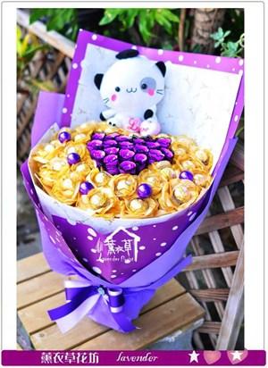 可愛貓咪花束c080905