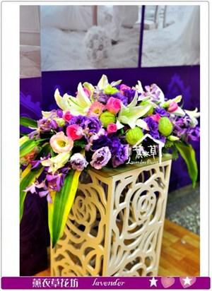 會議桌盆花設計a061231