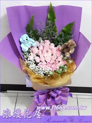 33朵玫瑰花束 A217
