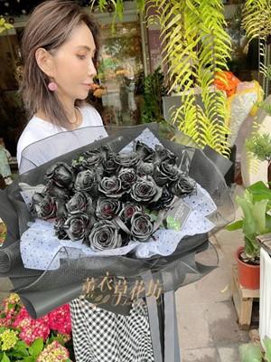 黑色玫瑰33朵花束 110031813