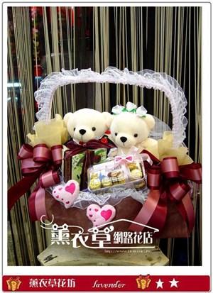 結婚熊熊提籃設計y10068