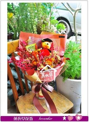 維妮&乾燥花花束 107060812