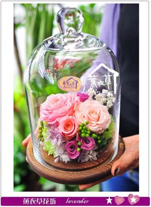 不凋花~歐式玻璃罩設計B110101