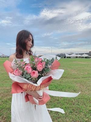 庭園玫瑰花束 109081005